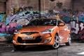Картинка авто, граффити, Hyundai, передок, Veloster