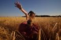 Картинка поле, лето, свобода, девушка, настроение