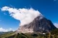 Картинка небо, облака, скала, гора