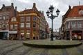 Картинка город, фонари, дома, Alkmaar, фото, Нидерланды, улица