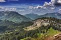 Картинка лес, небо, пейзаж, горы, природа, HDR, Австрия