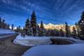 Картинка зима, пейзаж, горы, дорога