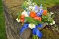 Картинка цветы, фото, розы, ромашки, букет, тюльпаны, колокольчики