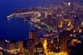 Картинка дома, вечер, порт, Monaco, улицы, Монако, Монте Карло