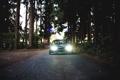 Картинка лес, деревья, Машина, Silvia, Nissan, ниссан, Tuning