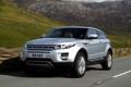 Картинка дорога, облака, горы, купе, серебристый, Land Rover, range rover