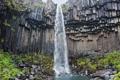 Картинка природа, скала, водопад, мох, ростения