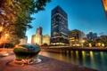 Картинка ночь, Чикаго, Иллинойс, Chicago, night, usa