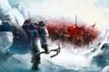 Картинка армия, фэнтези, арт, схватка, викинг