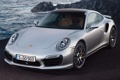 Картинка скалы, 911, Porsche, Порше, передок, Turbo, Турбо