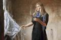 Картинка девушка, дым, палочки, окно, блондинка