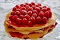 Картинка ягоды, малина, блины, Блинный торт