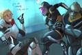 Картинка Shepard, Garrus, рисунок, маркер, Mass Effect, Tali