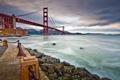 Картинка Сан-Франциско, Golden Gate Bridge, набережная, San Francisco, пролив Золотые Ворота, Мост Золотые Ворота, San Francisco ...