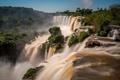 Картинка вода, деревья, природа, водопад, поток