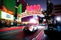 Картинка макларен, город, mclaren mp4-12c, supercar, ночь, в движении