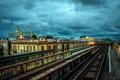 Картинка город, железная дорога, NYC