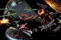 Картинка Star Wars, Art, Space Battle, Millennium Falcon