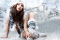 Картинка Зима, Девушка, обножённая
