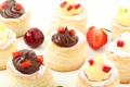 Картинка вишня, ягоды, шоколад, клубника, сладости, крем, десерт