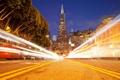 Картинка город, свет, ночь, San Francisco