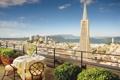 Картинка город, вид, высота, ресторан, терраса, San-Francisco, Hotel Mandarin Oriental