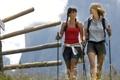 Картинка горы, девушки, Альпы, nordic walking, путешественницы