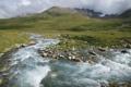 Картинка вода, пейзаж, горы, природа, ручей