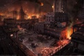 Картинка город, пожар, огонь, the demon`s forge, hunted