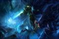 Картинка zeratul, starcraft 2, битва, камни, монстры