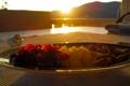 Картинка закат, ананас, миндаль, клюква