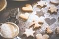 Картинка сахарная, пудра, печенье