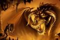 Картинка магия, Дракон, воин