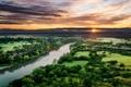 Картинка закат, пейзаж, река, вода