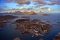 Картинка пейзаж, горы, остров, море