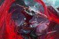 Картинка кровь, дракон, меч, воин, арт, битва, chenbo