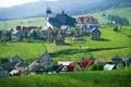 Картинка зелень, трава, природа, дома