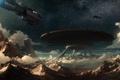 Картинка звезды, скалы, планета, корабли, остов, арт, Auriga