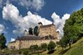 Картинка небо, облака, деревья, город, фото, замок, Австрия