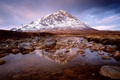 Картинка небо, вода, тучи, степь, камни, гора, озерцо