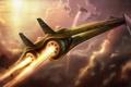 Картинка огонь, двигатель, полёт, сопло, самолёт