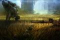 Картинка город, вертолет, солдаты, танк, поле, Crysis 3