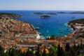 Картинка море, побережье, дома, лодки, курорт, катера, Хорватия