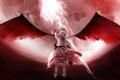 Картинка девушка, крылья, аниме, touhou