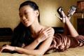 Картинка девушка, лицо, каблуки, азиатка, закрытые глаза