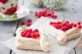 Картинка Выпечка, Pastries, Слойки с кремом и ягодами, Pastries with cream and berries