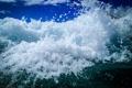 Картинка брызги, пена, волна, небо, море