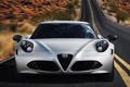 Картинка дорога, авто, фары, Alfa Romeo, передок, Launch Edition