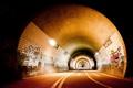 Картинка дорога, свет, лампы, граффити, освещение, тоннель