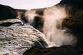 Картинка горы, каньон, пар, стихия, водопад